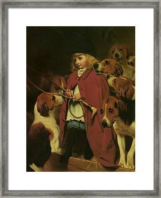 The New Whip Framed Print by Charles Burton Barber
