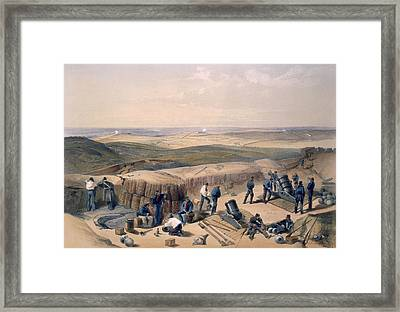 The New Works On The Right Attack Framed Print by William 'Crimea' Simpson