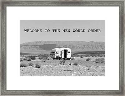 The New World Order Framed Print