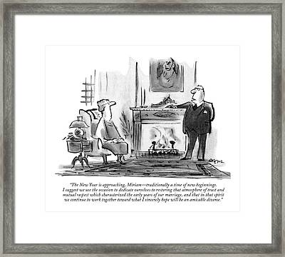The New Year Is Approaching Framed Print