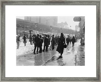 The New York Blizzard 1899 Framed Print by Steve K