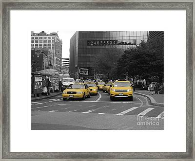 The New York Cabs Framed Print