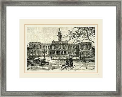 The New York City Hall, 1891 Framed Print