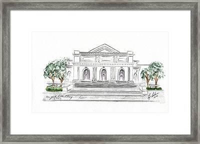 The New York Public Library Framed Print by AFineLyne