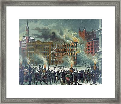 The New-york World Building Fire Framed Print