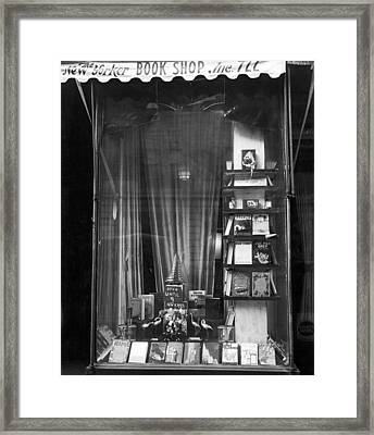 The New Yorker Book Shop Framed Print by Underwood Archives