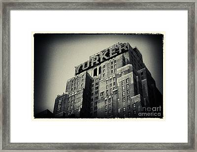 The New Yorker Hotel New York City Framed Print by Sabine Jacobs