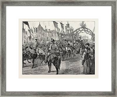 The Newly Married Crown Prince And Princess Of Romania Framed Print