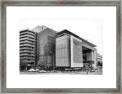 The Newseum Framed Print by Olivier Le Queinec