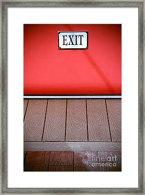 The Next Exit Framed Print