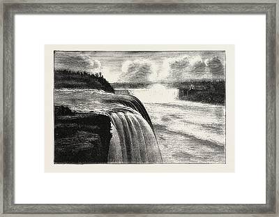 The Niagara Falls, View From Prospect Point Framed Print by American School