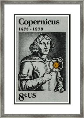 The Nicolaus Copemicus Stamp Framed Print by Lanjee Chee