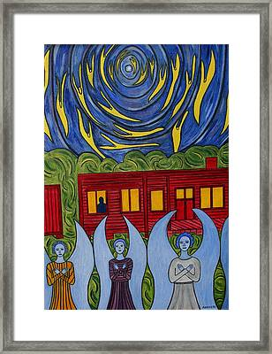 The Night Angels Came Framed Print