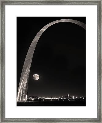 The Night Arch Framed Print by Steven  Michael