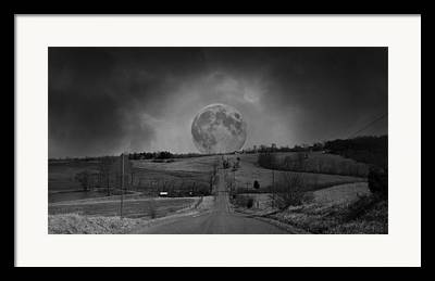 Scenic Drive Digital Art Framed Prints