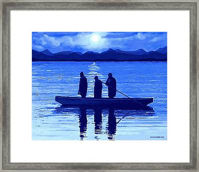 The Night Fishermen Framed Print by Sophia Schmierer