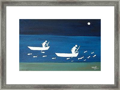 The Night In Warali Village Framed Print by Dipali Deshpande