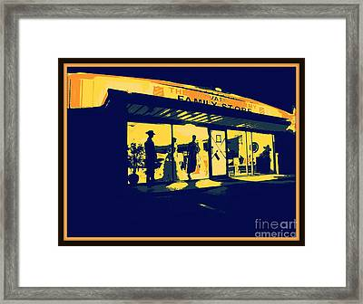 The Night Janitor Framed Print