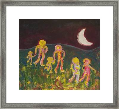 The Night March Framed Print by Marty Smith