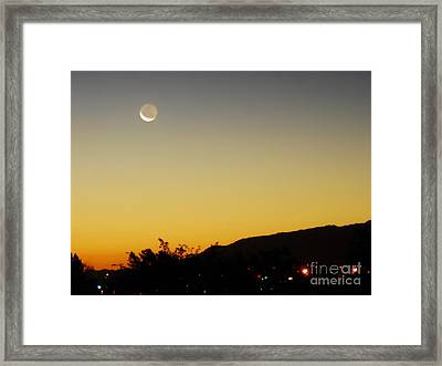 The Night Moves On Framed Print by Angela J Wright