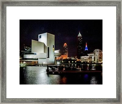 The Night Rocks In Cleveland Framed Print