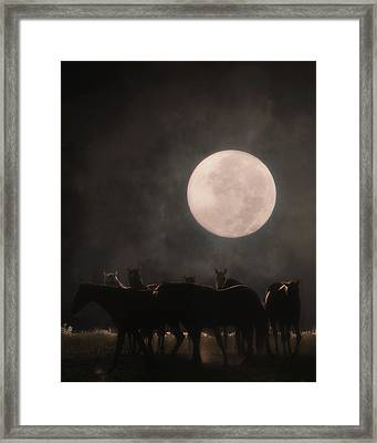 The Night Shift Framed Print by Ron  McGinnis