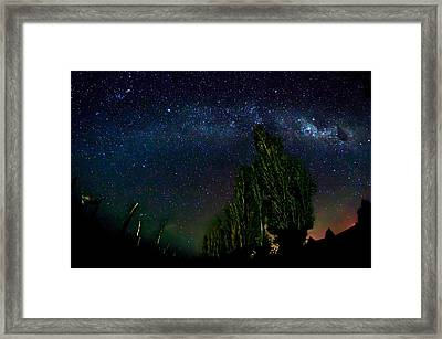 The Night Sky Over Chile Chico Framed Print by Charles Brooks