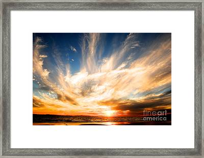 The Night The Sunset Danced Framed Print by Margie Amberge