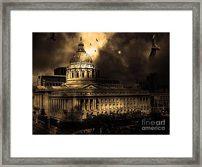The Night The Vultures Returned To San Francisco City Hall 5d22510 Framed Print by Wingsdomain Art and Photography