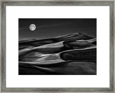 The Night Walked Down The Sky ... Framed Print