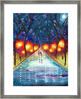 The Night We Fell In Love Framed Print by Jessilyn Park