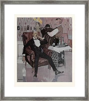 The Nightcap, German Framed Print by Gotz, Ferdinand (1874-1936), German