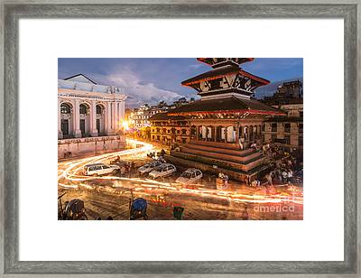 The Nights Of Stunning Kathmandu Framed Print