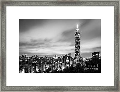 The Nights Of Taipei Framed Print