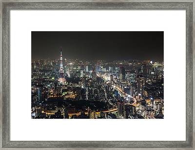 The Nights Of Tokyo Framed Print
