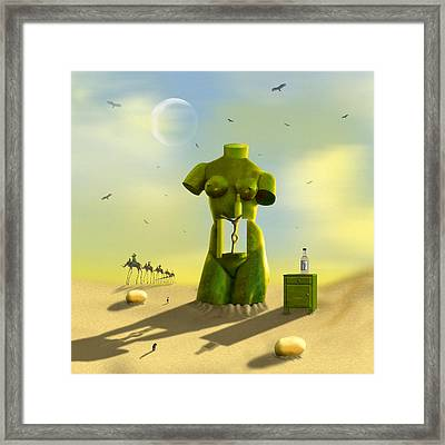 The Nightstand Framed Print