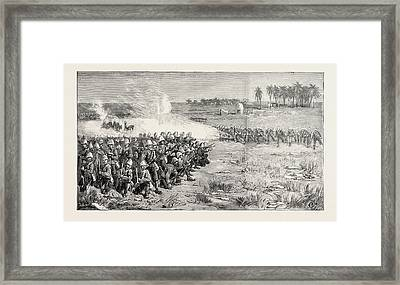 The Nile Expedition  A Sham Fight Between The Camel Corps Framed Print by English School
