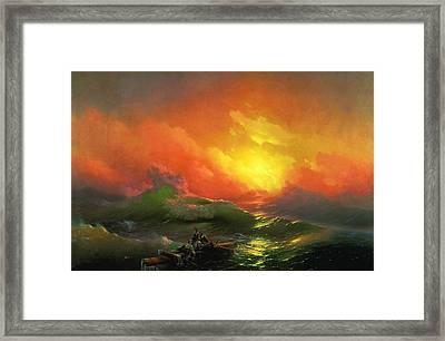 The Ninth Wave 1850 By Aivazovsky Framed Print by Movie Poster Prints