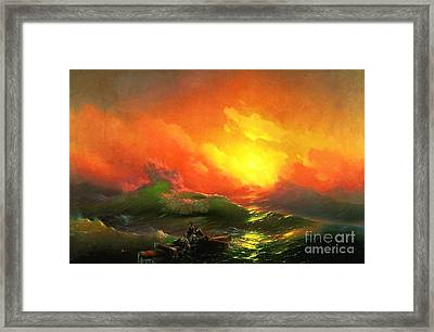 The Ninth Wave Framed Print by Pg Reproductions