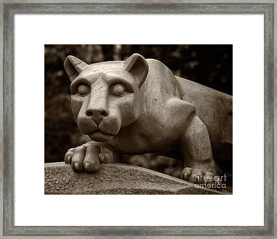 The Nittany Lion Shrine Framed Print by Mark Miller