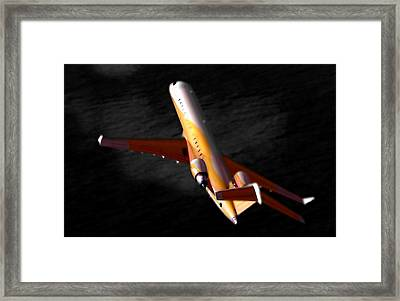 The No 2 Crj700 - Bombardier Framed Print