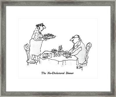 The No-cholesterol Dinner Framed Print