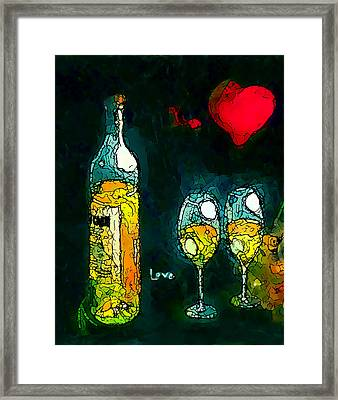 The No.2 Love Framed Print by Marcello Cicchini