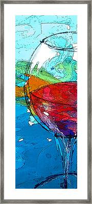 The No.2 Rosso Nel Blue Framed Print by Marcello Cicchini