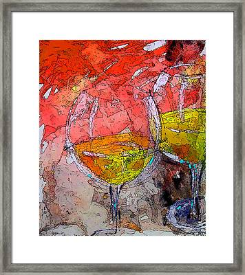 The No.2 White Framed Print by Marcello Cicchini