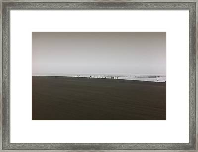 The No3 Ocean Shores Framed Print by Marcello Cicchini