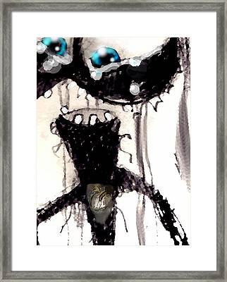 The No.4 Amazed Framed Print by Marcello Cicchini