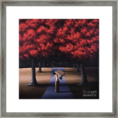 Framed Print featuring the painting The Noble Art Of Thinking Outside Of The Box by Ric Nagualero
