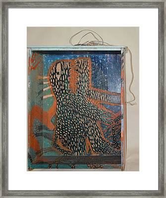 The Non-erring Line Is A Papercut - Drawer Framed Print by Nancy Mauerman