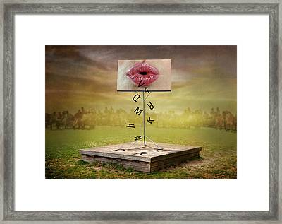 The Nonsense Speech. Framed Print